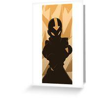 Avatar Aang earth  Greeting Card