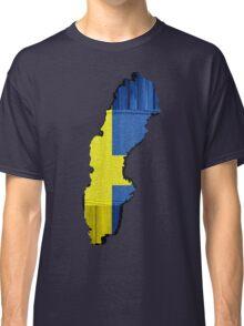 Sweden Flag Map Classic T-Shirt