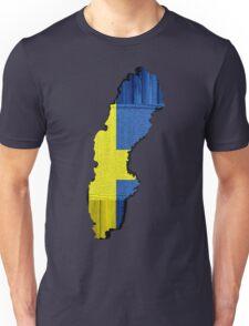 Sweden Flag Map Unisex T-Shirt