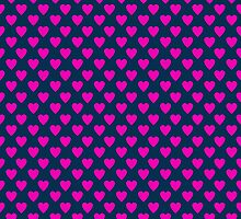 Pink and Blue Hearts by giraffoarts