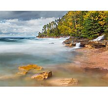 Pictured Rocks Surf Photographic Print