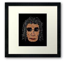 Cool Rock Star Man Drawing Framed Print