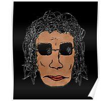 Cool Rock Star Man Drawing Poster