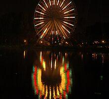 The Big Wheel at LaRonde at Night by Moxy