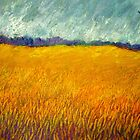 Field Under Stormy Sky by Kent Whitaker