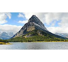 Grinnell Point from across Swiftcurrent Lake Photographic Print