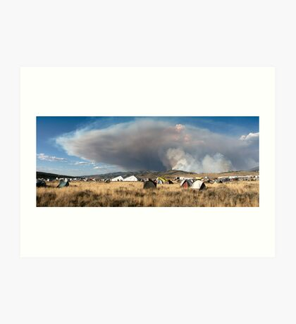 Wildfire Header at Valley Road Fire, Stanley, Idaho Art Print