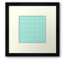 White Hearts on Tiffany Aqua Blue Framed Print
