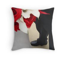 Flowers & Shoes Throw Pillow