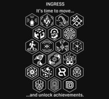 Ingress Achievements White T-Shirt