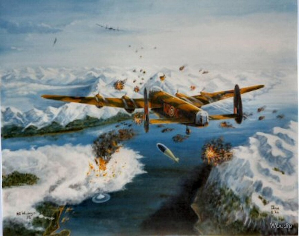 9 Sqdn bombing Tirpitz  by Woodie