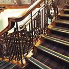 Stairs in Eastwood House, Glasgow by ElsT