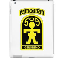 509th Parachute Infantry Regiment (PIR) - GERONIMO iPad Case/Skin