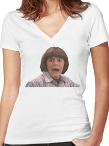 Coconut Head Women's Fitted V-Neck T-Shirt