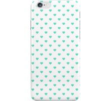 Tiffany Aqua Blue Candy Polkadot Hearts on White iPhone Case/Skin