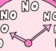 No O'Clock Sticker