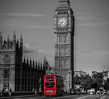 Big Ben and London Bus by Chris Thaxter