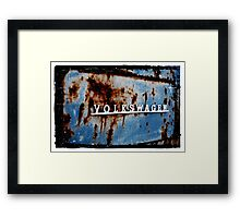 Rusted VW Framed Print