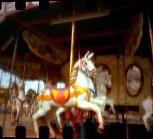 Carousal Horses pinhole by gldfshbob