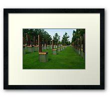OKC National Memorial-The Survivor Chairs.... Framed Print