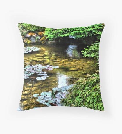 Butchart Garden Canada Throw Pillow
