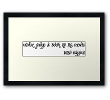 never judge a book by its movie Framed Print