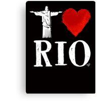 I Heart Rio de Janeiro (remix) by Tai's Tees Canvas Print