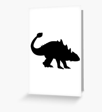 Ankylosaurus dinosaur Greeting Card