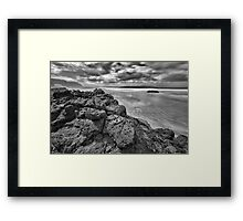 Downhill Rocks Framed Print