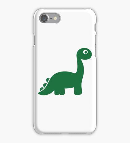 Green comic dinosaur iPhone Case/Skin