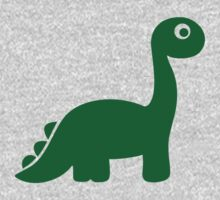 Green comic dinosaur Kids Clothes