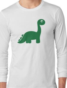 Green comic dinosaur Long Sleeve T-Shirt