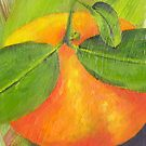Mandarin from my backyard no.1 by Jane Whittred