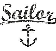 Sailor Anchor Vintage Black  by theshirtshops