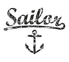 Sailor Anchor Vintage Black  Photographic Print