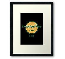 Prancing Pony Café (green / yellow / dark) Framed Print