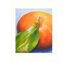 Mandarin from my backyard no.2 Art Print