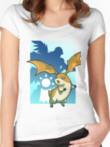 Patamon - Boom Bubble Women's Fitted Scoop T-Shirt