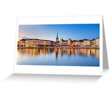 Gamla Stan in Stockholm, Sweden Greeting Card