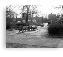 Cold bench Canvas Print