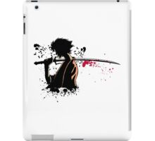 Samurai in darkness iPad Case/Skin