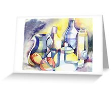 Cosmic Bottles Greeting Card