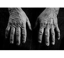 Old Hands Photographic Print