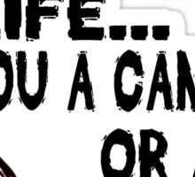 Are You a Cannibal - humor Sticker