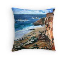 Rock Beach La Palma Throw Pillow