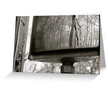 Rear view mirror Greeting Card
