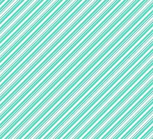 Tiffany Aqua Blue Deckchair Stripes by podartist