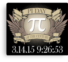 Excellent 'Ultimate Pi Day 2015 Crest' T-shirts, Hoodies, Accessories and Gifts Canvas Print