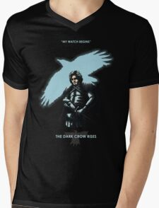 The Dark Crow Rises (Colab with Faniseto) Mens V-Neck T-Shirt