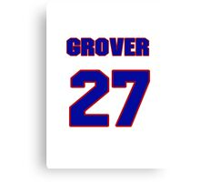 National baseball player Grover Hartley jersey 27 Canvas Print